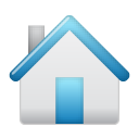 icon of a small white and blue house