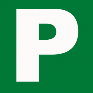 image of a p-plate used by probationary drivers
