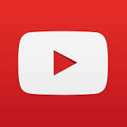 YouTube play icon which is a red arrow on a white button on a red background